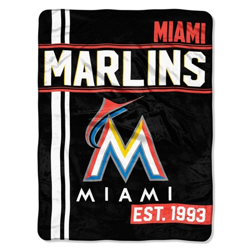 MLB Miami Marlins Micro Fleece Throw Blanket - image 1 of 2