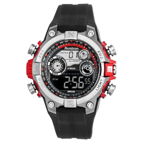 Armitron® Men's Chronograph Watch - Red - image 1 of 1