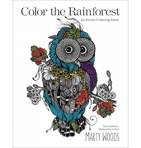 Color the Rainforest : An Exotic Coloring Book (Paperback) - image 1 of 1