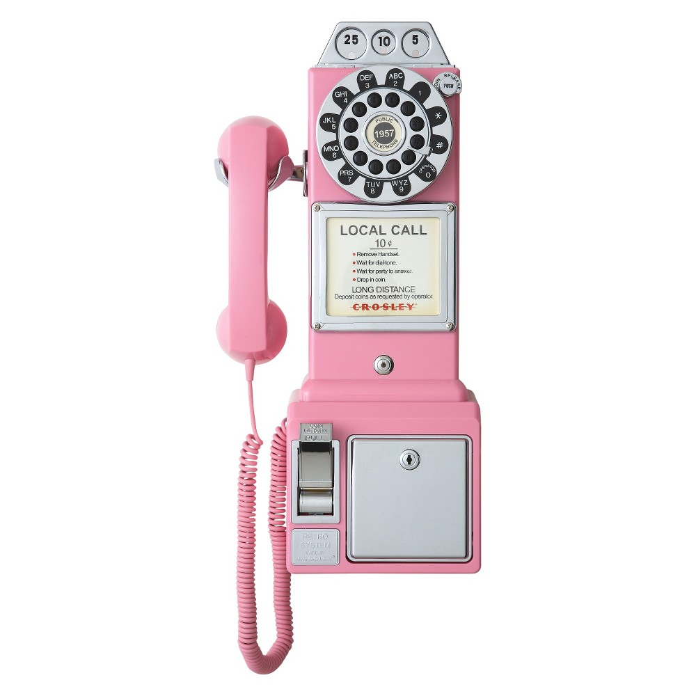 Crosley 1950's Pay Phone - Pink (CR56-PI)