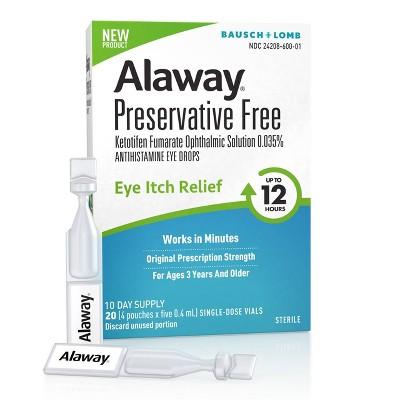 Alaway PF 12hr Allergy Eye Drops - 10ml