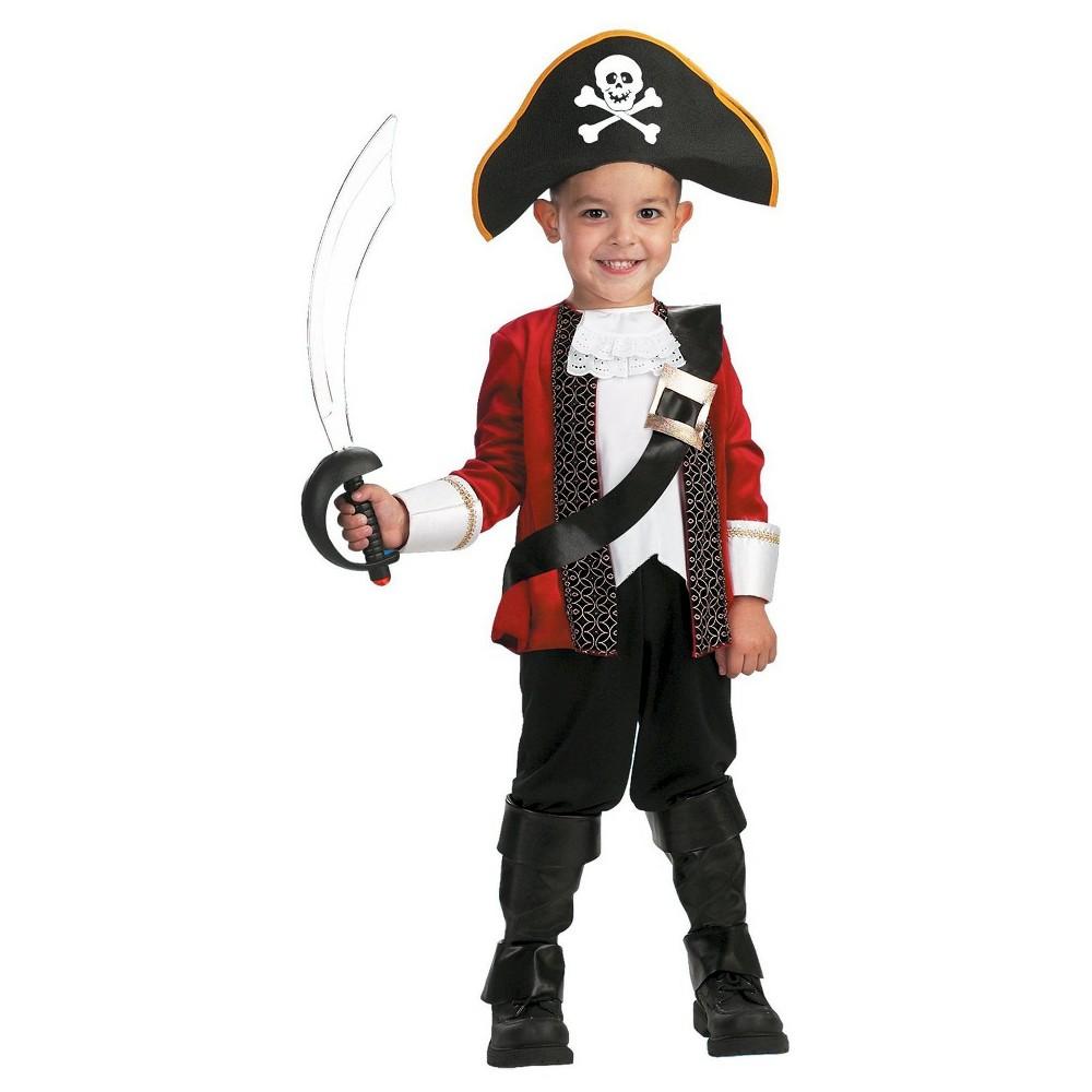 El Capitan Toddler Costume- Small, Toddler Boy's, Size: S(4-6), Black