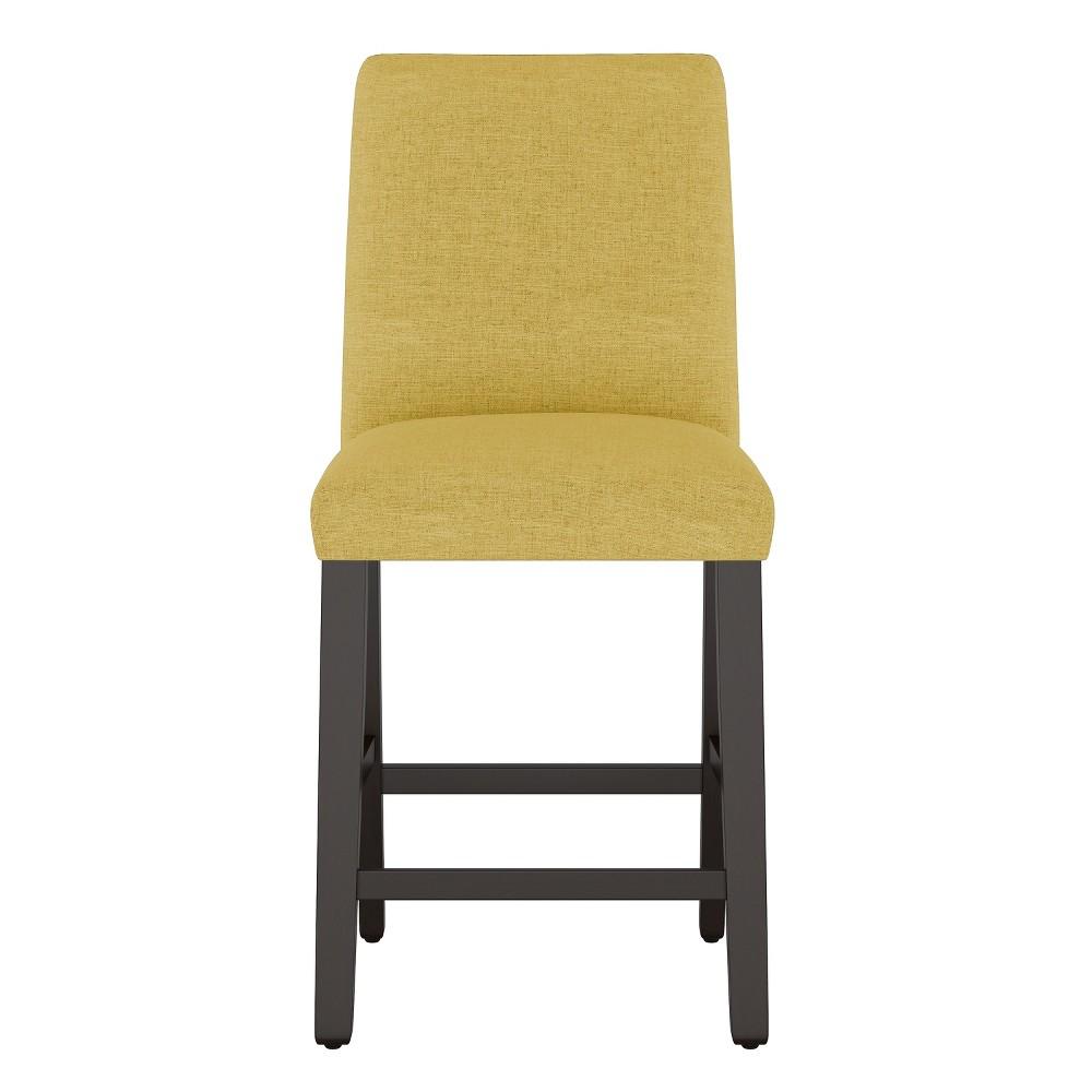 Modern Counter Stool Golden Yellow Linen - Project 62