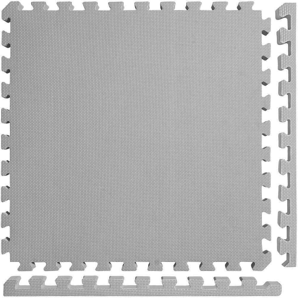 Meister X Thick 1 5 34 Interlocking 16 Tiles Gym Floor Mat Gray