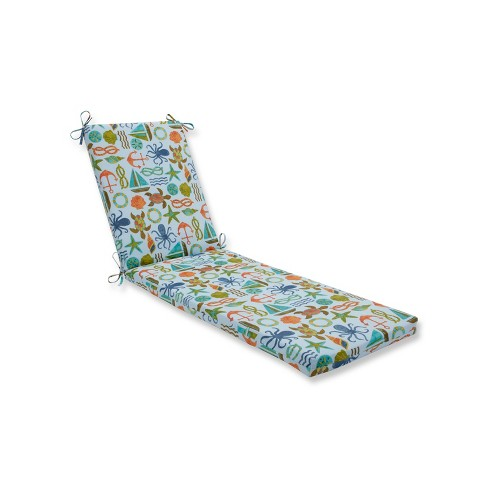 Indoor/Outdoor Seapoint Blue Summer Chaise Lounge Cushion - Pillow Perfect - image 1 of 1