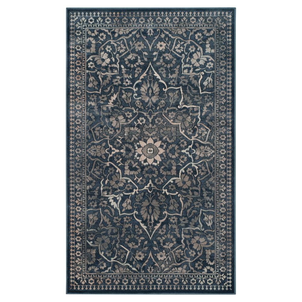 Vintage Rug Blue Light Gray 3 39 3 34 X5 39 7 34 Safavieh