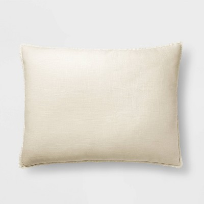 King Euro Heavyweight Linen Blend Throw Pillow Natural - Casaluna™