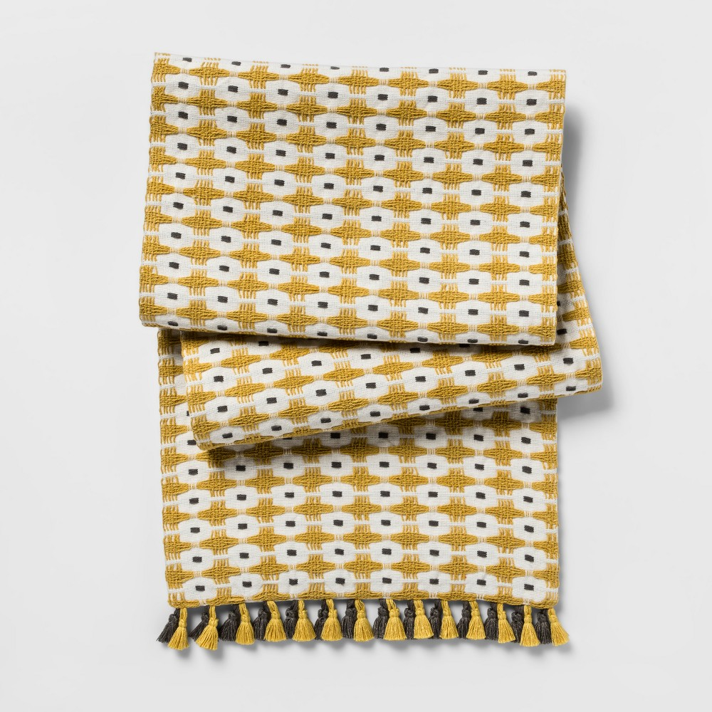 Yellow Chunky Weave Table Runner (14