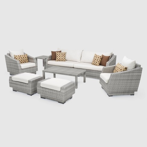 Superb Rst Brands Cannes 8 Piece Sofa And Club Chair Set Andrewgaddart Wooden Chair Designs For Living Room Andrewgaddartcom
