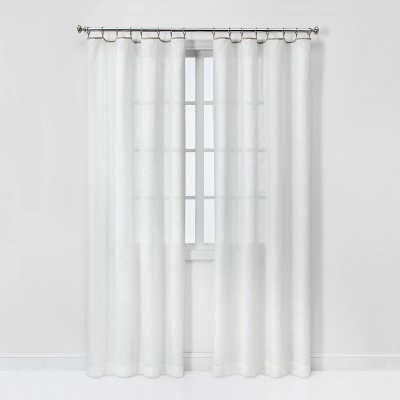 Contrast Edge Solid Sheer Window Curtain Panel - Threshold™