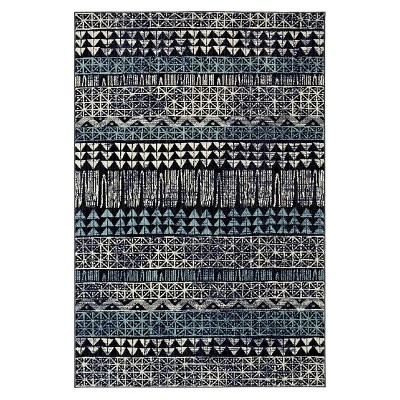 Tribal Area Rug Blue (7' x 10')- Nate Berkus™