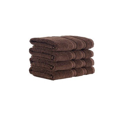 4pc Antalya Turkish Washcloth Set Brown - Makroteks