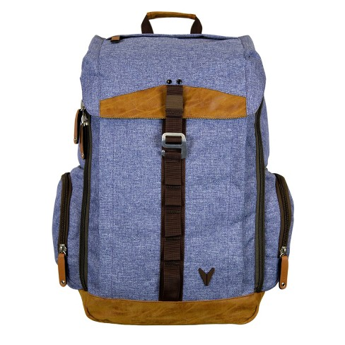 "BONDKA 17"" Jigsaw Backpack - Heather Blue - image 1 of 6"