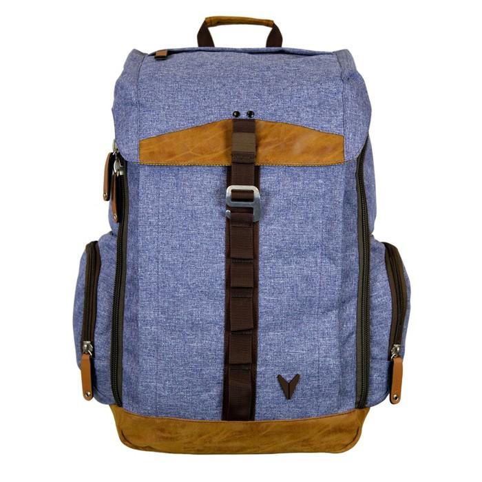 "BONDKA 16"" Jigsaw Backpack - Heather Blue - image 1 of 6"