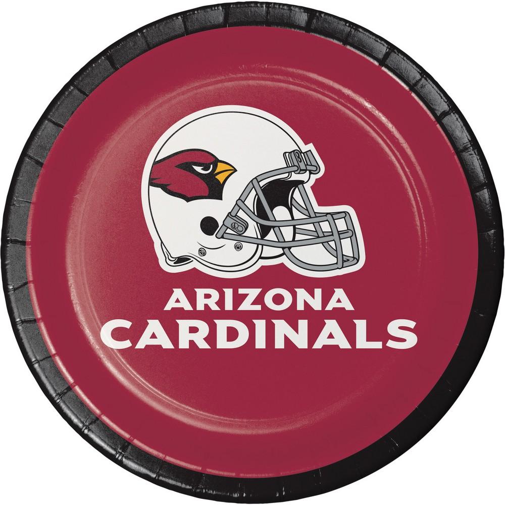 Image of 24ct Arizona Cardinals Dessert Plates Red