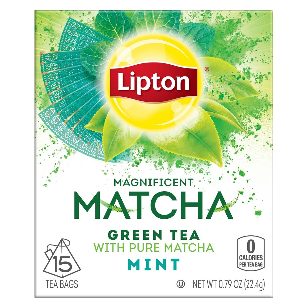 Lipton Magnificent Matcha Green Mint Tea Bags - 15ct