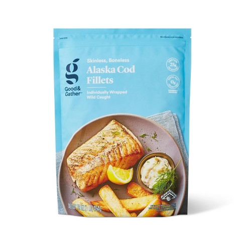 Alaska Cod Skinless Boneless Frozen Fillets - 16oz - Good & Gather™ - image 1 of 2