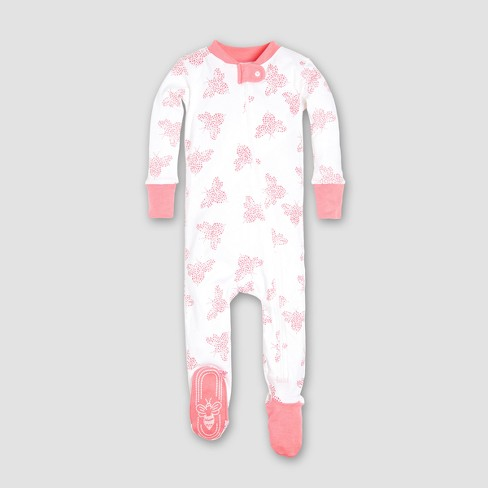 fd5f738c00d0 Burt s Bees Baby® Girls  Organic Cotton Snuggle Bee Footed Pajama ...