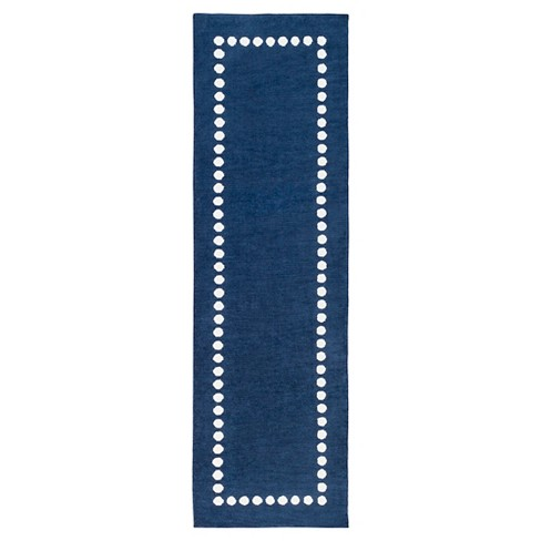 "Navy Lamoine Kid's Accent Rug (2'6""x8') - Surya® - image 1 of 1"