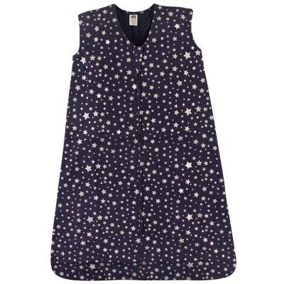 Hudson Baby Unisex Baby Cotton Sleeveless Wearable Sleeping Bag - Sack Blanket Star 0-6M