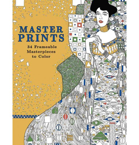 Master Prints : 34 Frameable Masterpieces to Color (Paperback) - image 1 of 1