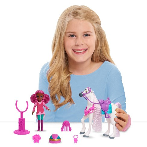 Winner's Stable Madison & Huntley Doll & Horse Figure Set 11pc - image 1 of 4