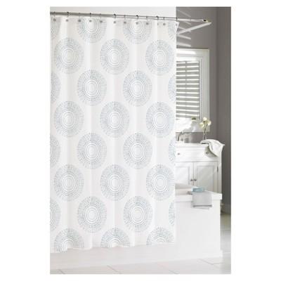 Starburst Shower Curtain Gray - Kassatex
