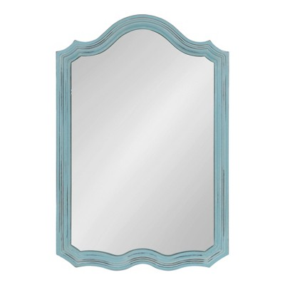 """24"""" x 36"""" Abrianna Decorative Vintage Wall Mirror Blue - Kate and Laurel"""