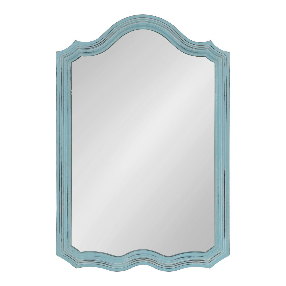 """Image of """"24""""""""x36"""""""" Abrianna Decorative Vintage Wall Mirror Blue - Kate and Laurel"""""""