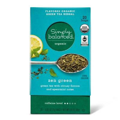 Fair Trade Organic Zen Green Tea Sachets - 20ct - Simply Balanced™