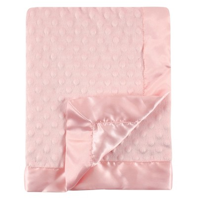 Hudson Baby Infant Girl Plush Mink Blanket, Pink, One Size