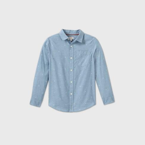 Cat /& Jack Blue XXL Boys/' Print Polo Shirt