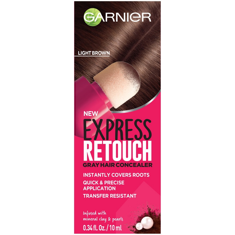 Image of Garnier Express Retouch Light Brown Gray Hair Concealer - 0.34 fl oz