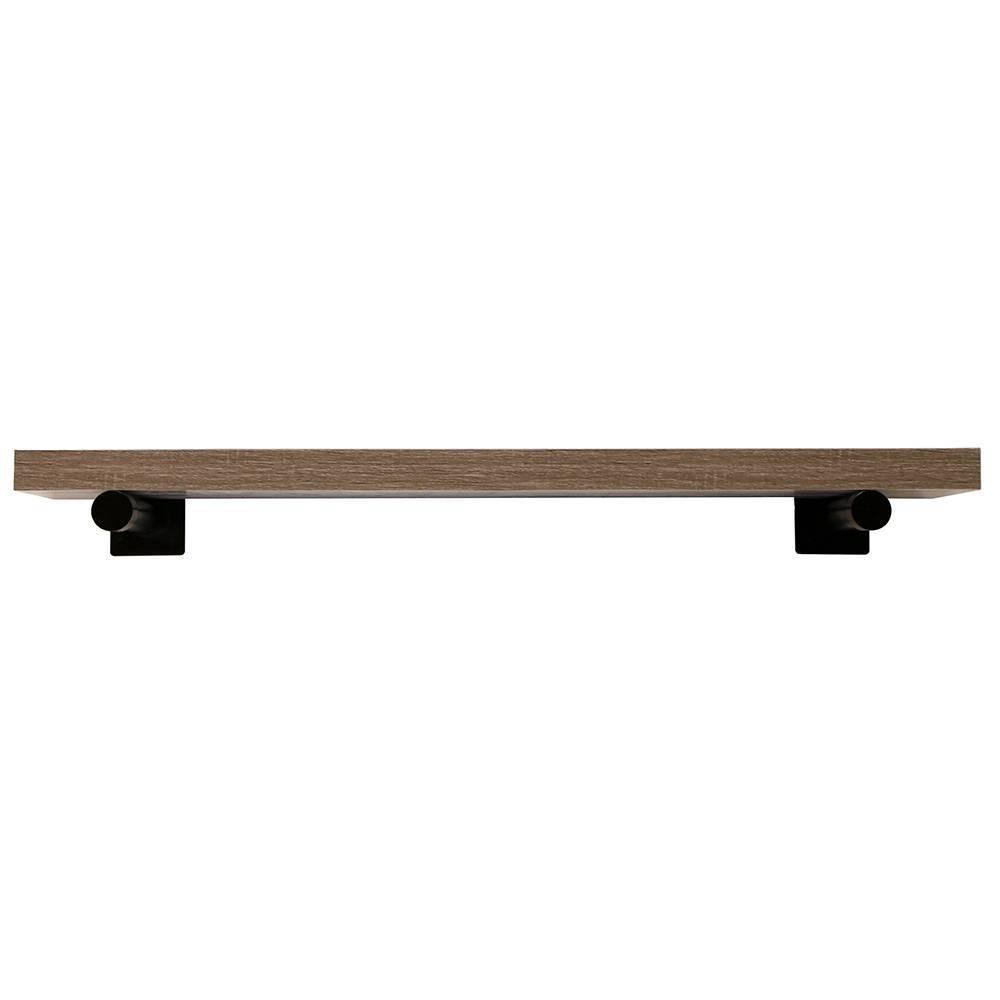 "Image of ""36"""" Floating Bracket Shelf Driftwood- InPlace, Size: 36"""", Brown"""