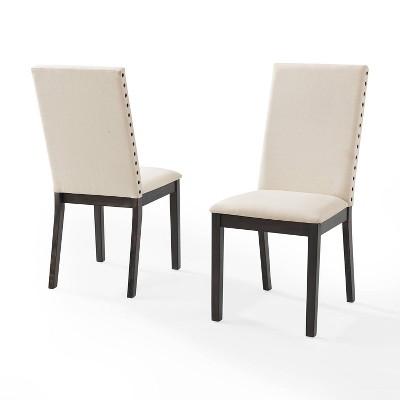 Set of 2 Hayden Upholstered Chairs Slate - Crosley