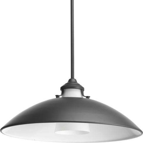 "Progress Lighting P500014 Carbon Single Light 20"" Wide Pendant - image 1 of 1"