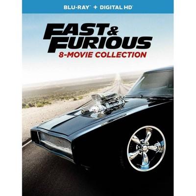 Fast & Furious 8-Movie Collection (Hobbs & Shaw Movie Cash) (Blu-ray + Digital)