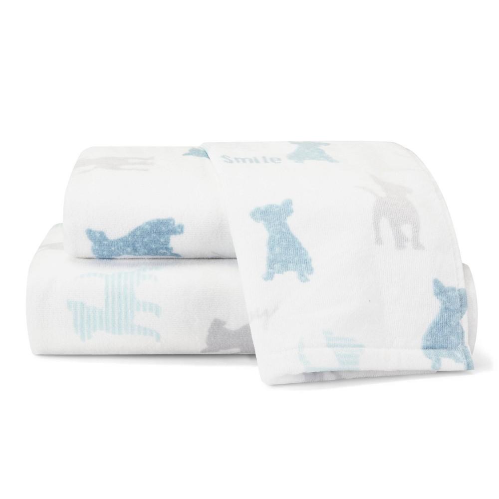 Image of 3pc Augie And Friends Towel Set Blue - ED by Ellen DeGeneres