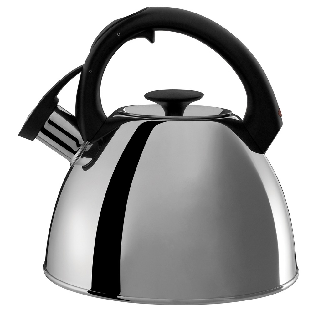 Oxo 2.1qt Stovetop Tea Kettle Polished Stainless - Black 1072129