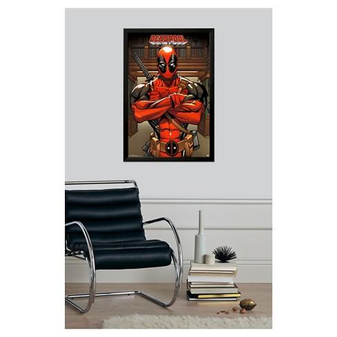 Deadpool Marvel, Framed Poster : Target