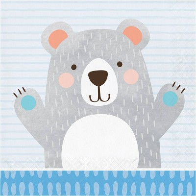 48ct Bear Print Disposable Napkins