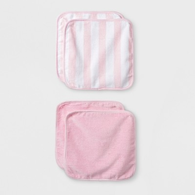 Baby Girls' 4pk Washcloth Set - Cloud Island™ Pink