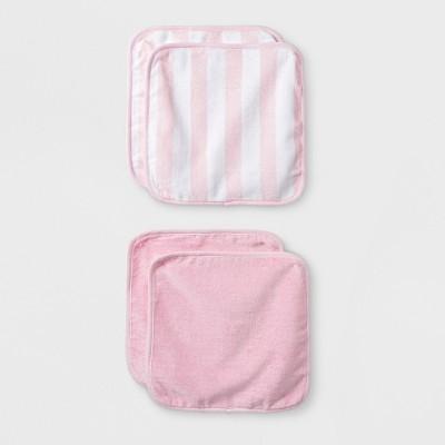 Baby Girls' 4pk Washcloth Set - Cloud Island™ Pink