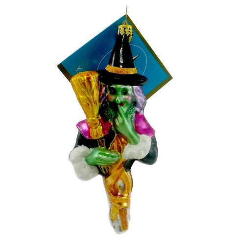 Christopher Radko Twitchy Ornament Halloween Green Witch - image 1 of 2