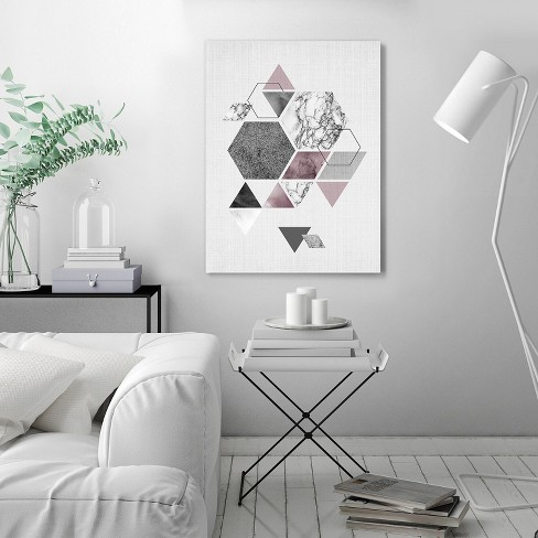 Americanflat Geometric Hexagons By Lila Lola Wall Tapestry Target