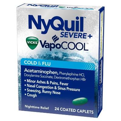 Cold & Flu: NyQuil Severe Vicks VapoCOOL Caplets
