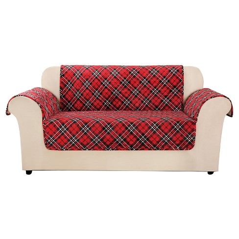 Astounding Furniture Flair Tartan Plaid Loveseat Furniture Protector Red Sure Fit Squirreltailoven Fun Painted Chair Ideas Images Squirreltailovenorg