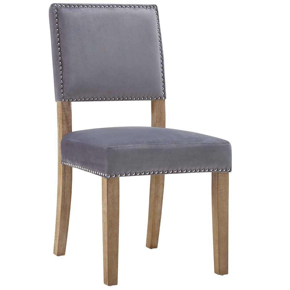 Oblige Wood Dining Chair Gray - Modway