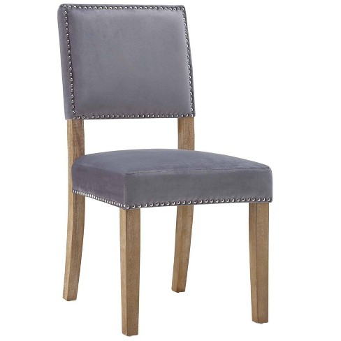 Oblige Wood Dining Chair Gray - Modway - image 1 of 4