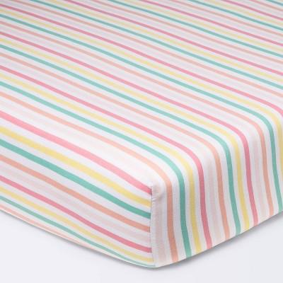 Fitted Crib Sheet Stripes - Cloud Island™